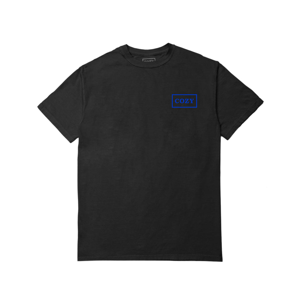 Cozier Box Tee - Black/Blue