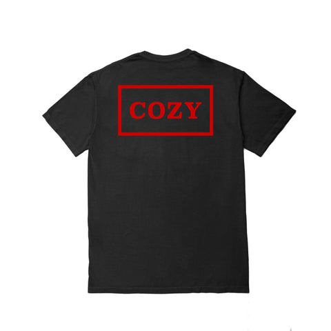 Cozier Box Tee - Black/Red
