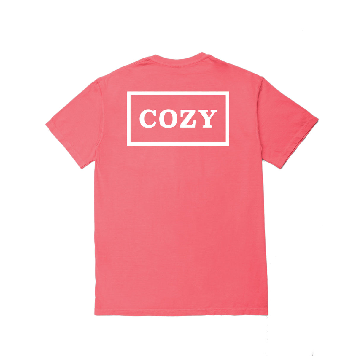 Cozier Box Tee - Coral