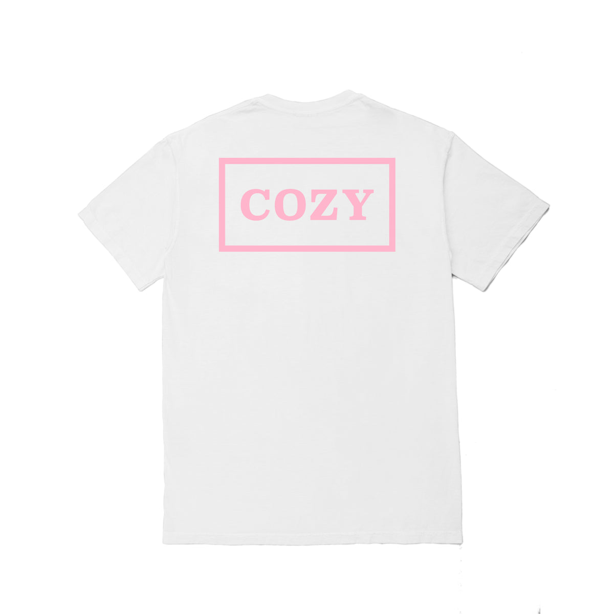 Cozier Box Tee - White/Light Pink