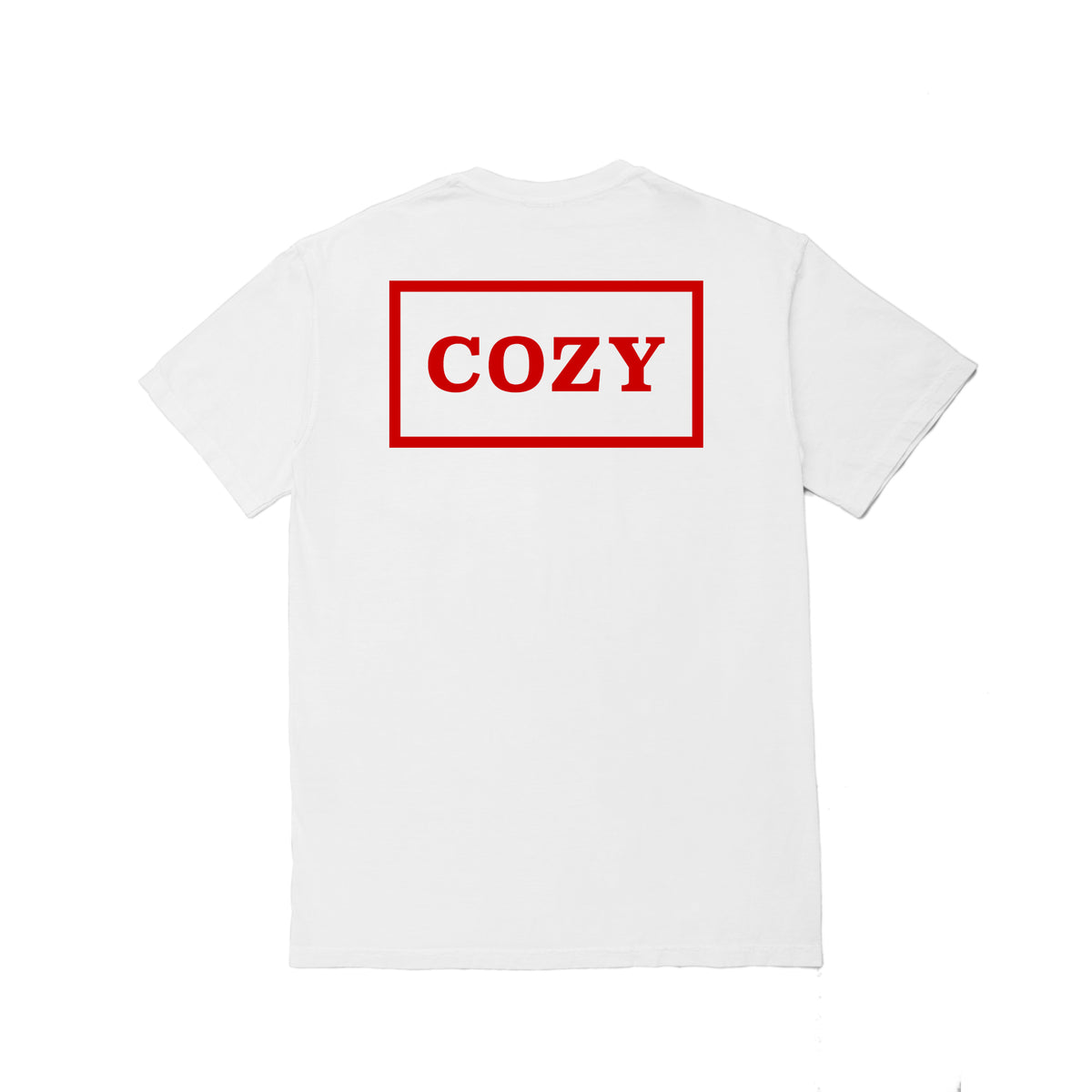 Cozier Box Tee - White/Red