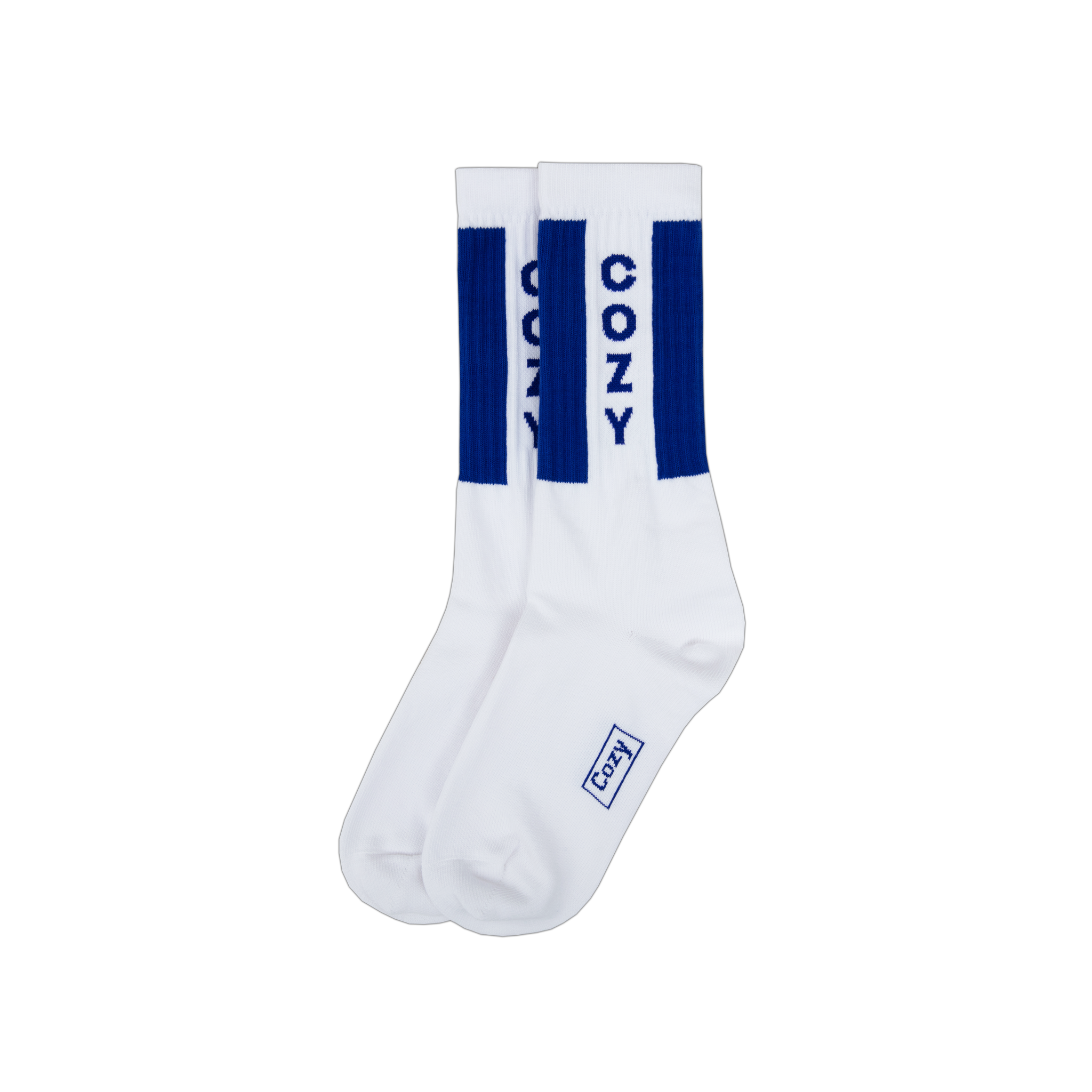 Cozy Logo Sock - White / Blue