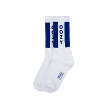 Load image into Gallery viewer, Cozy Logo Sock - White / Blue
