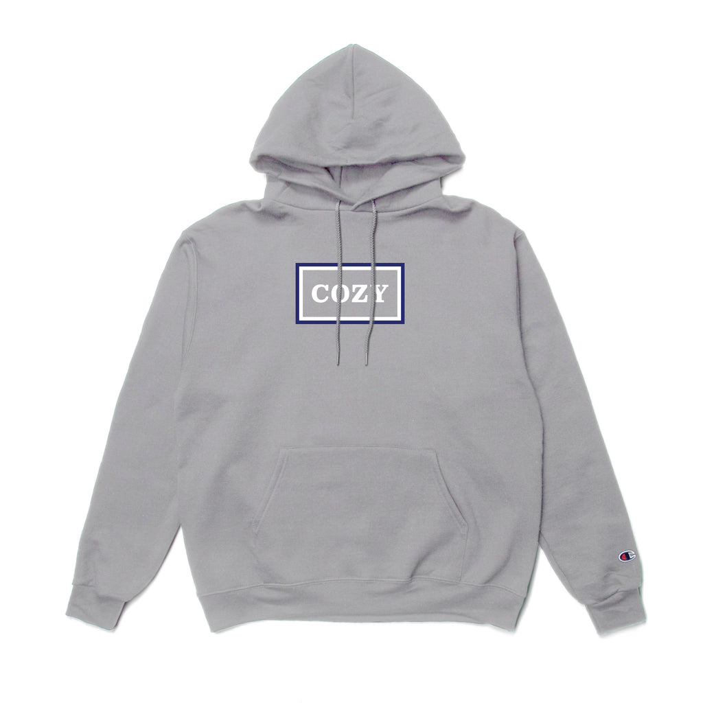 Stacked Hoodie - Silver Grey