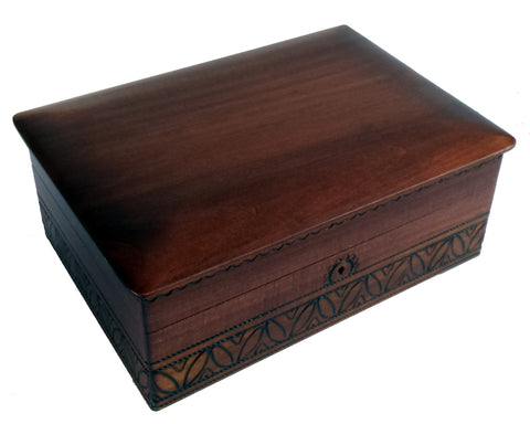 Wooden keepsake box Simple elegance with key