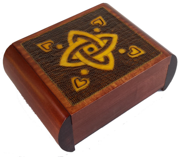 Classic Celtic Knot Polish Secret Box (Sides Slide)