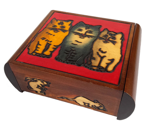 """Cats"" Polish Secret Box (Sides Slide)"