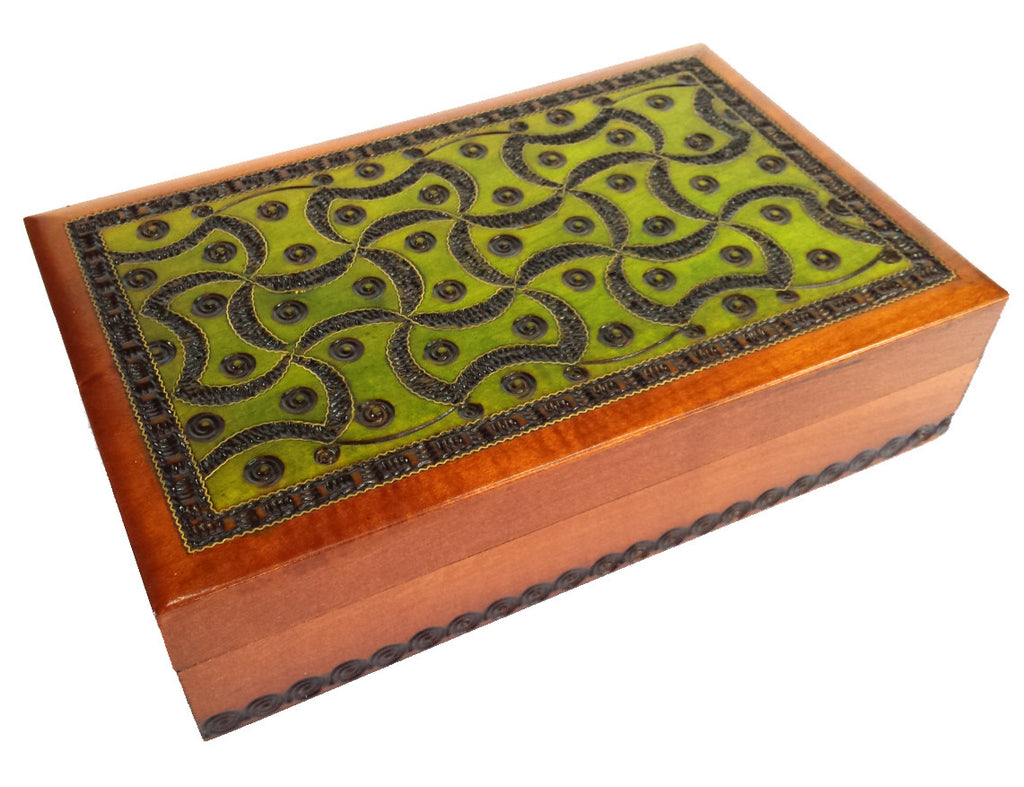 """Geometry"" Handcrafted Wooden Box of Poland"