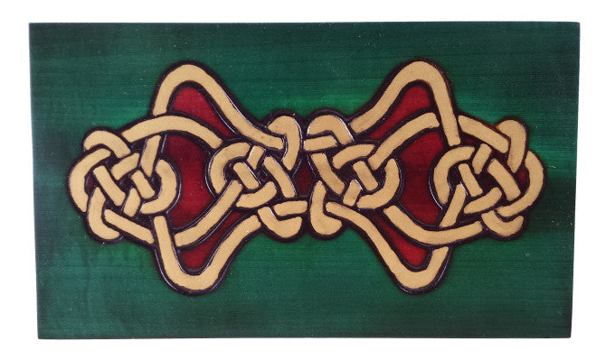 """Eternal Life"" Wooden Celtic Polish Secret Box (Sliding Front Panel)"