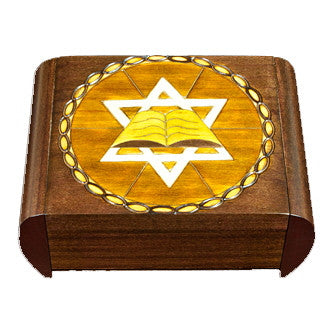 """Star of David"" Polish Secret Box (Sides Slide)"