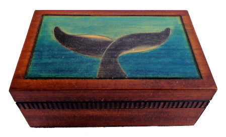 Tiny Whale's Tale Wooden Box