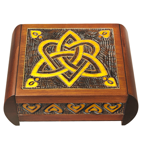 Heart and Trinity wooden secret box from Poland