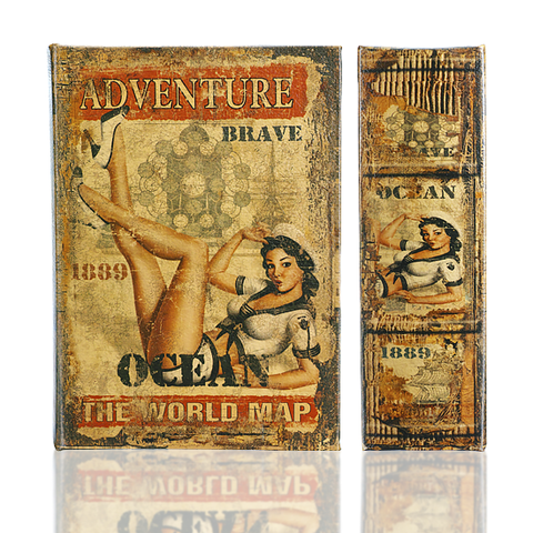 Book Safe Box - Adventure Brave Navy Pin-Up