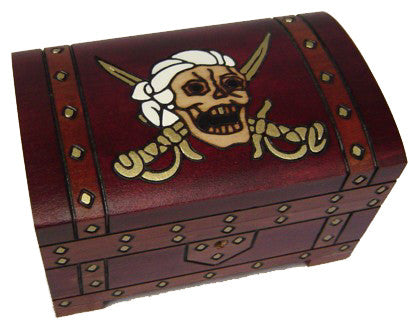 Pirate Treasure Chest with Lock