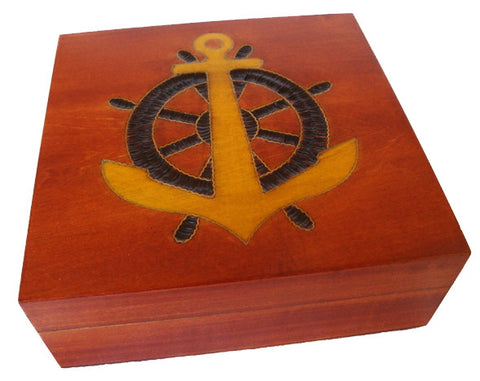 Seaman's Box with Brass Inlay