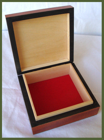 Seaman's Wooden Box with Brass Inlay