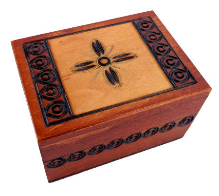 Tiny Traditional Polish Box with Brass Inlay