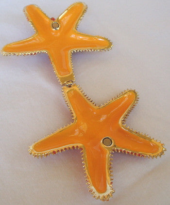 Red Starfish Crystal Adorned Enamel Box