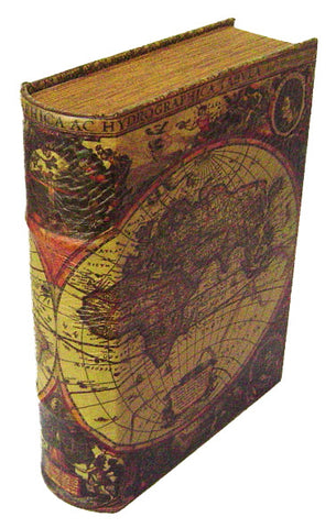 Old World Map Book Box