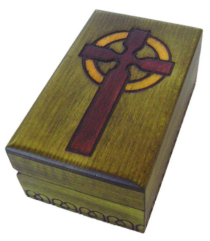 Tiny Holy Cross Wooden Box