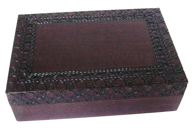 Dark Brown Lucid Dignity Wooden Box