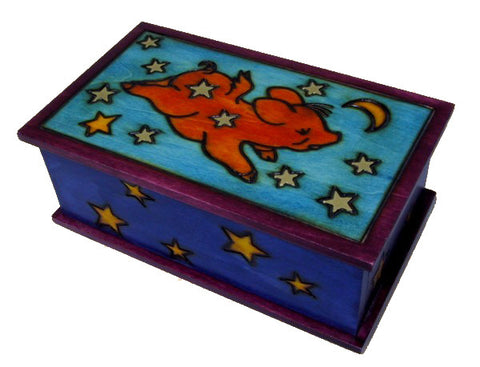 Wooden Pig Polish Secret Box (Sliding Front Panel)