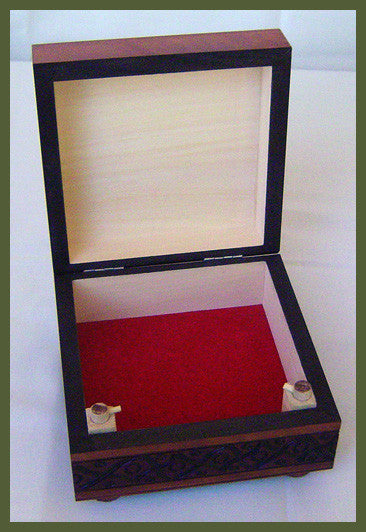 "Small ""Simple Appreciations"" Wooden Secret Box (Legs Twist)"