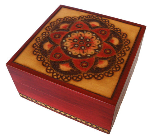 Traditional Polish Secret Box with Brass Inlay