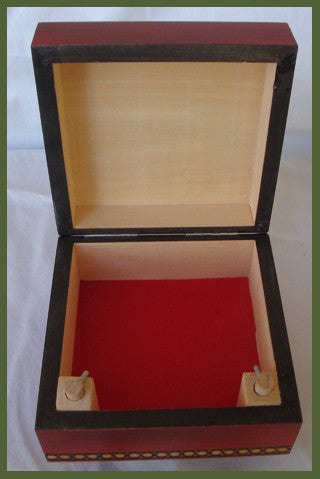 Traditional Polish Secret Box with Brass Inlay (Legs Twist)