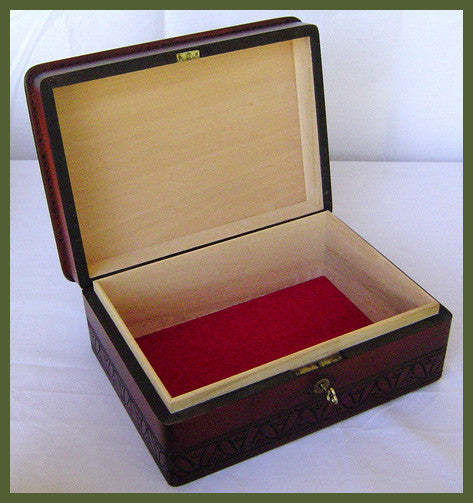 wooden keepsake box elegance interior