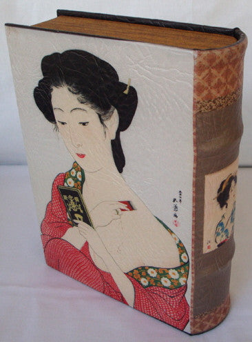 "Small ""Life of a Geisha"" Faux Leather Book box"