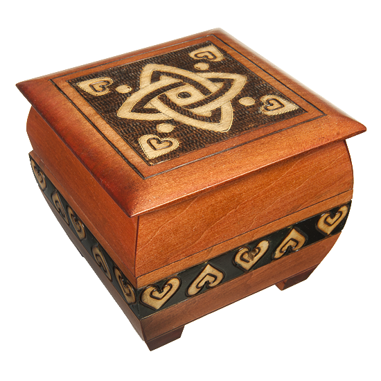 Celtic Knot Wooden Box with Lock from Poland