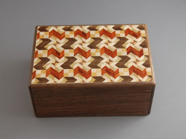 4 Sun 14 Step Bird Zougan Japanese Puzzle Box
