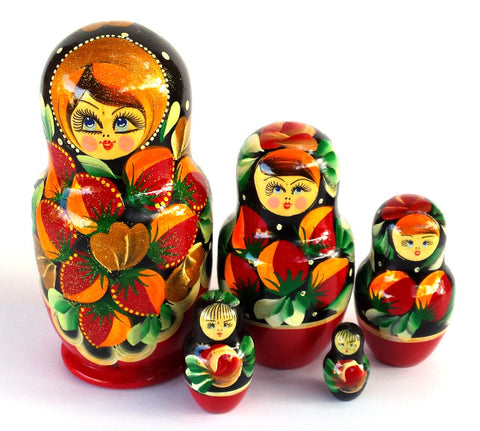 """Moira"" 5 Piece Russian Nesting Dolls"