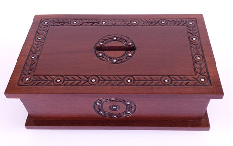 """Feathered Savings"" Polish Secret Money Box (Sliding Front Panel)"