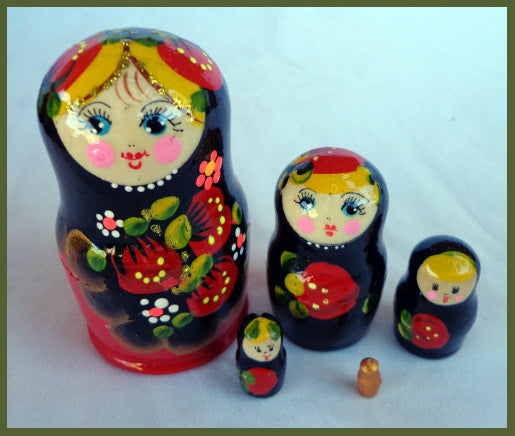 Small Strawberry Nesting Dolls