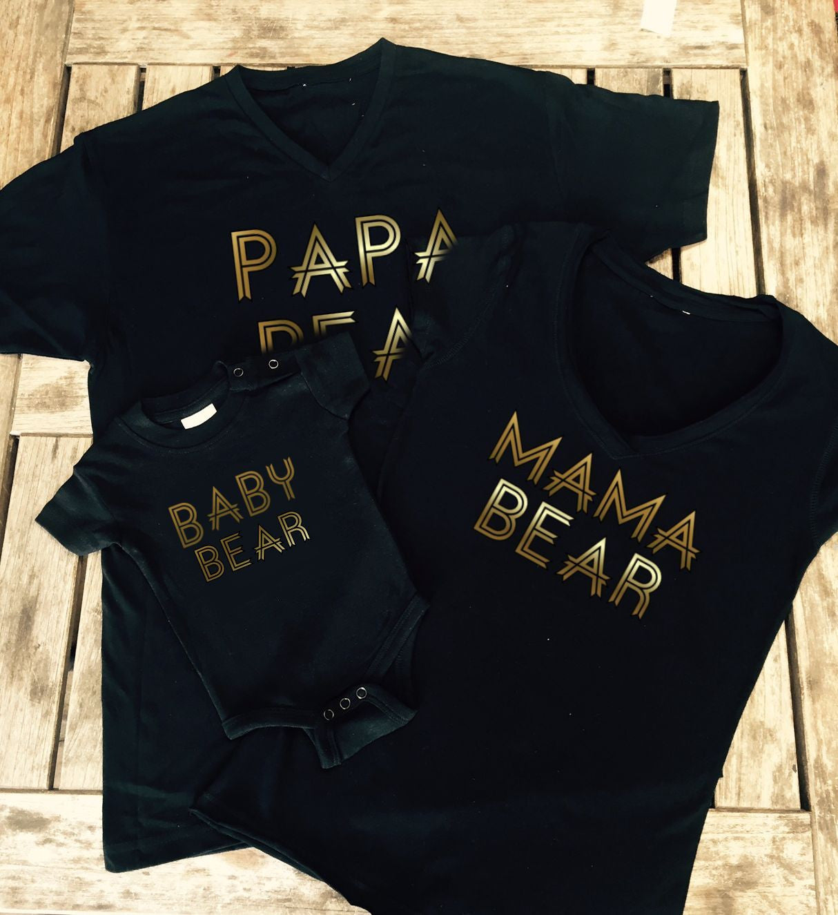 family bundle mama bear, papa bear, baby bear