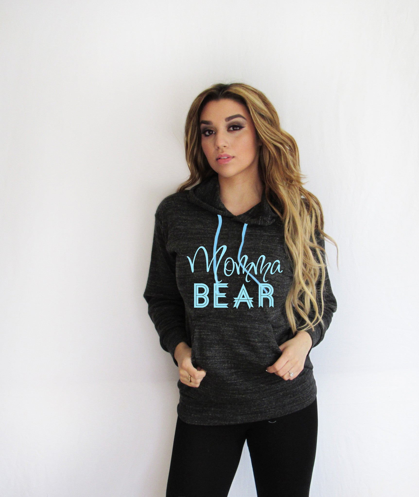 Momma Bear Light Weight  Hoodie Made By Think Elite
