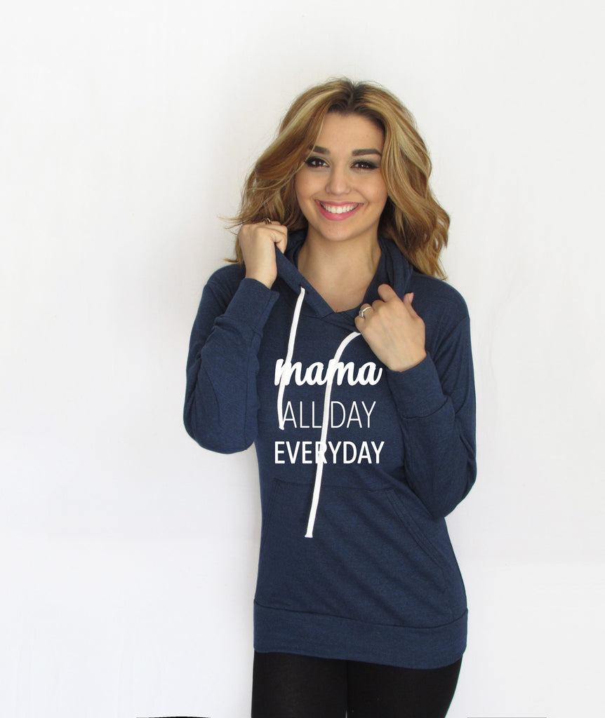 MAMA ALL DAY LIGHTWEIGHT HOODIE, MOTHER CLOTHING