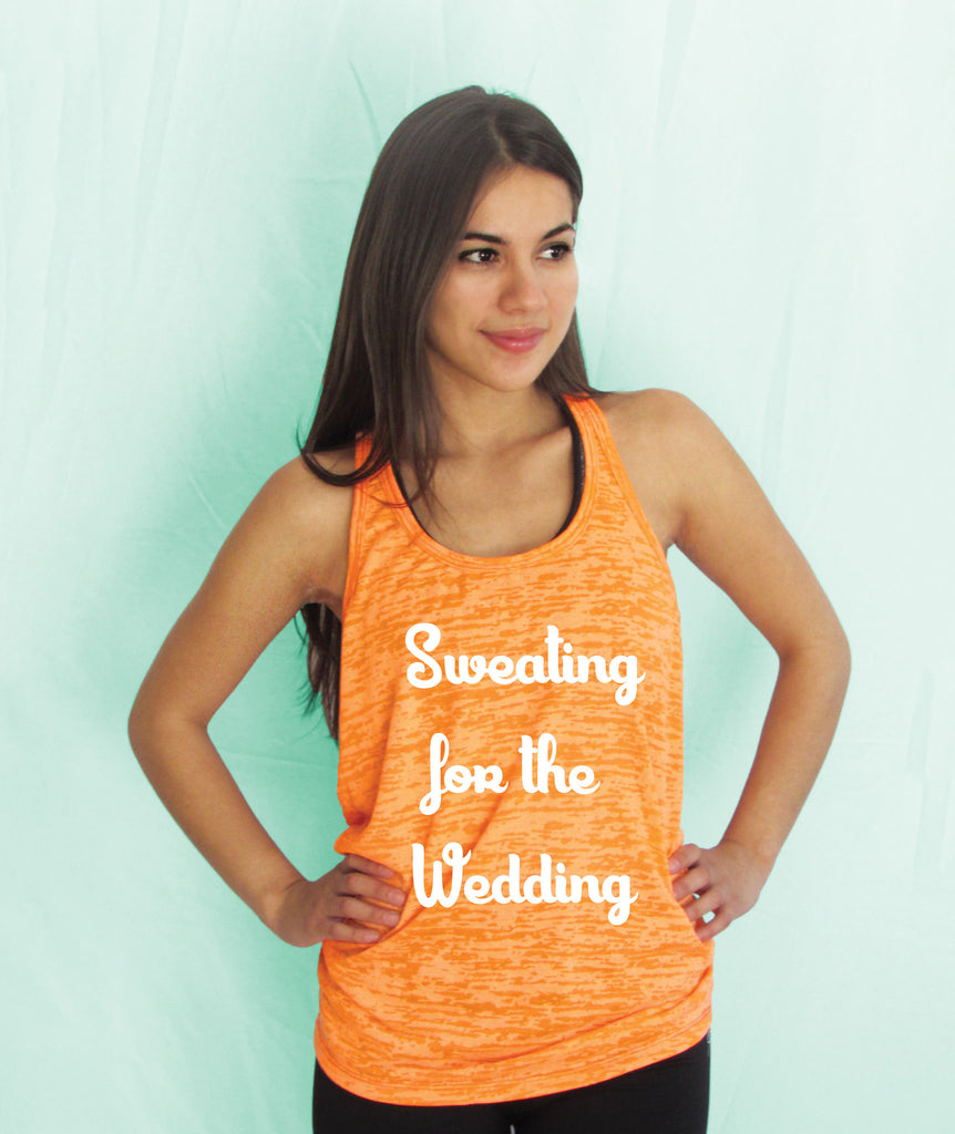 Sweating for the wedding Burnout Tank Top