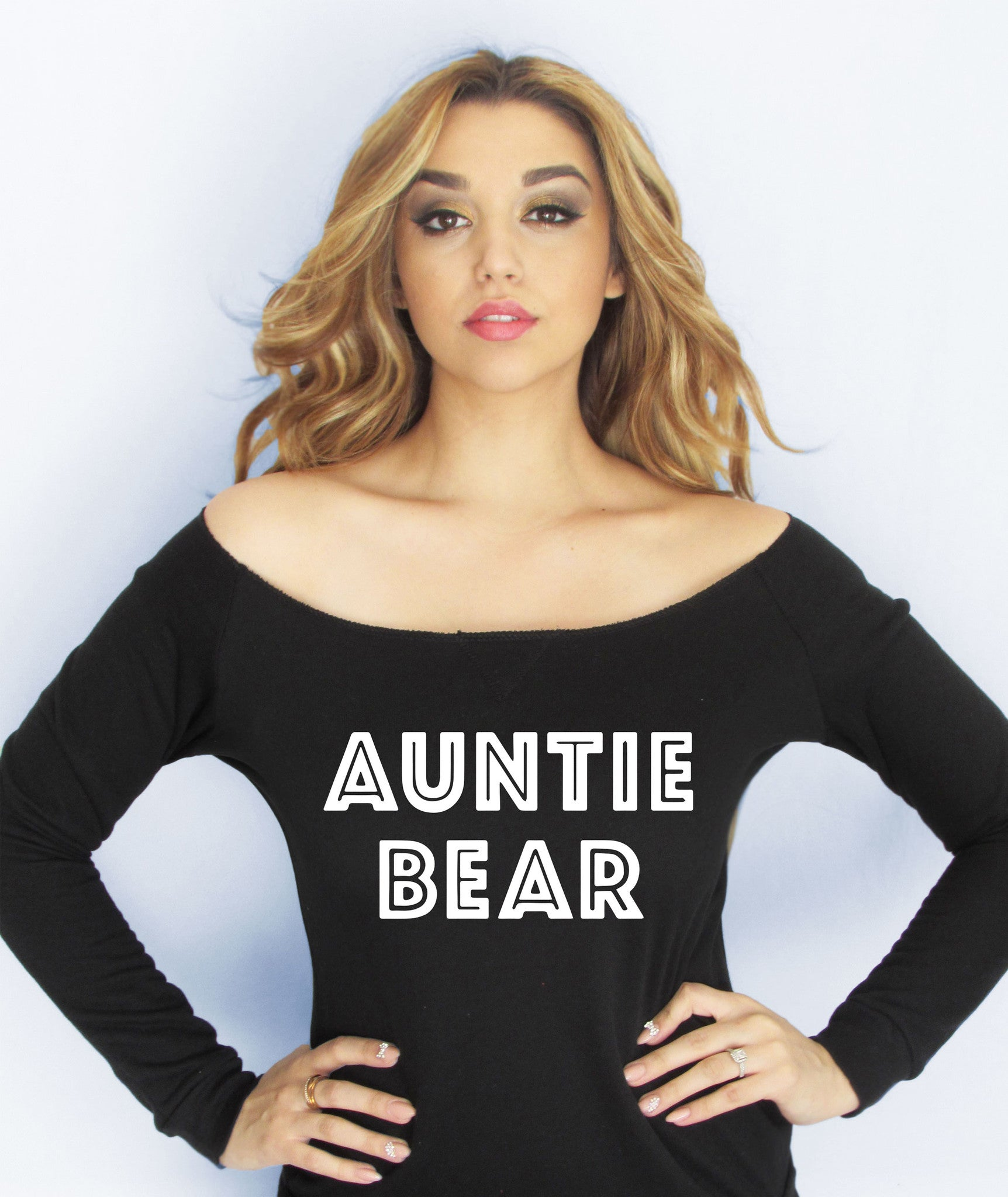 auntie bear sweater girl fresh workout fit fitness