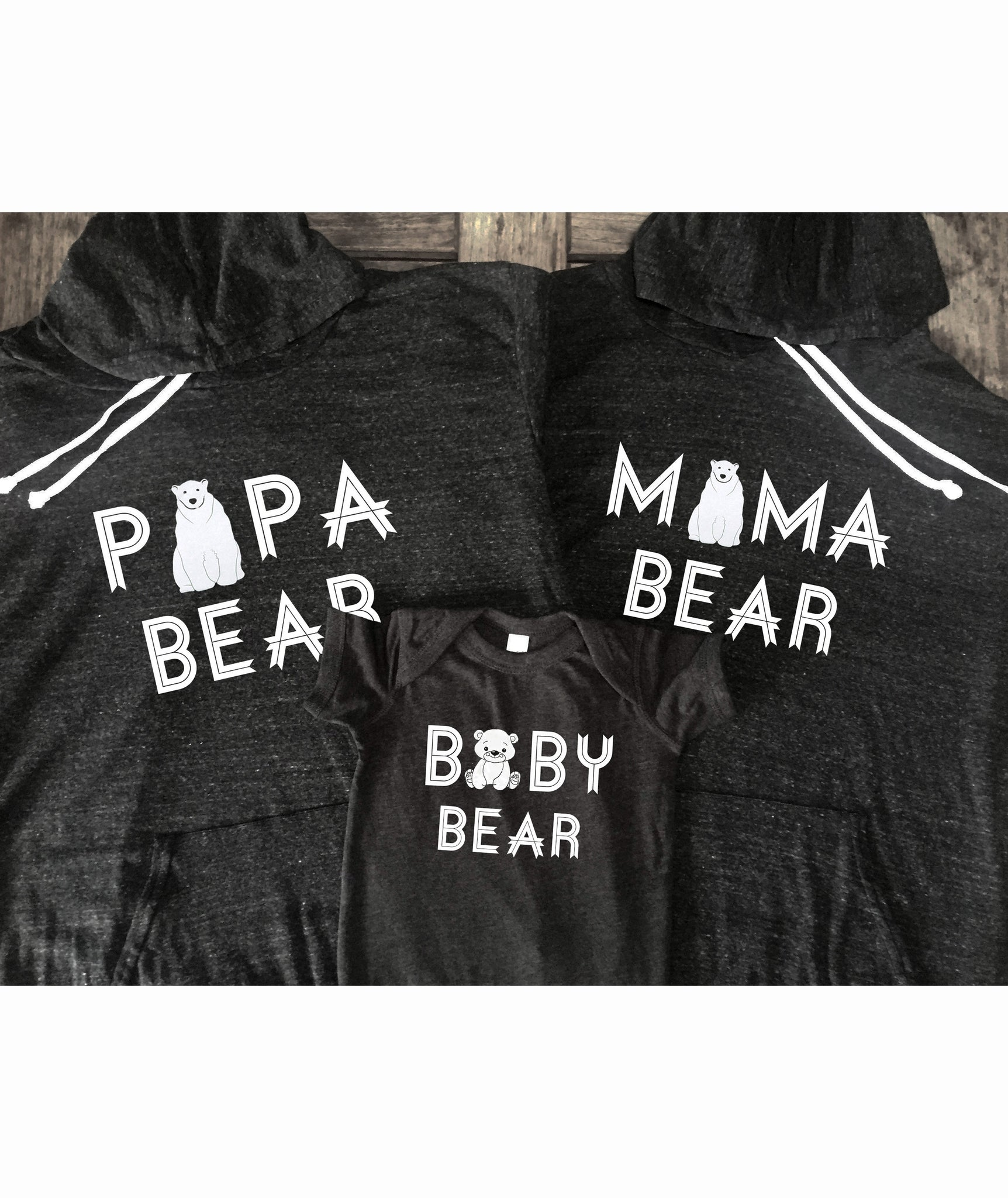 Mama Bear Papa Bear Bundle Hoodies