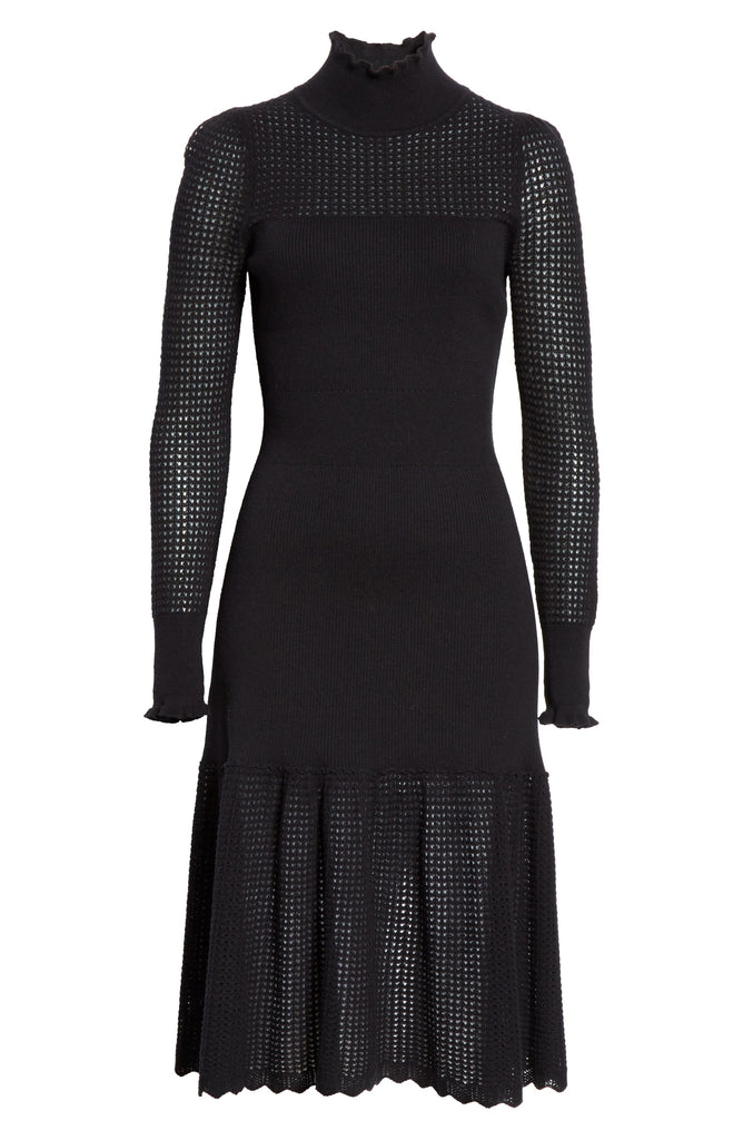 Pointelle Turtleneck Dress  (FINAL SALE)