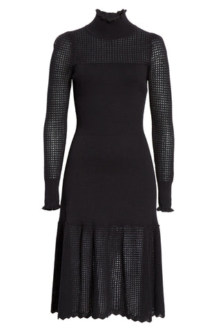 LA VIE POINTELLE TURTLENECK DRESS