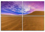 Battle of Color Wood Print | Landscape Split Panel