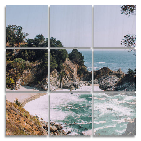 Big Sur Wood Print | The Nine Split Panel 3