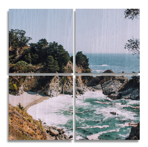 Big Sur Wood Print | Four Square Split Panel