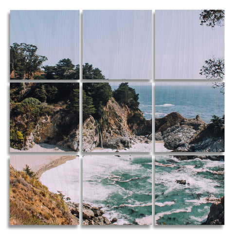 Big Sur Wood Print | The Nine Split Panel 2