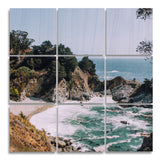 Big Sur Wood Print | The Nine Split Panel 1