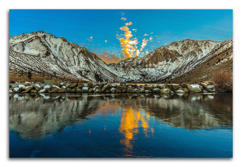 Convict Lake Reflection Wood Print | Single Panel